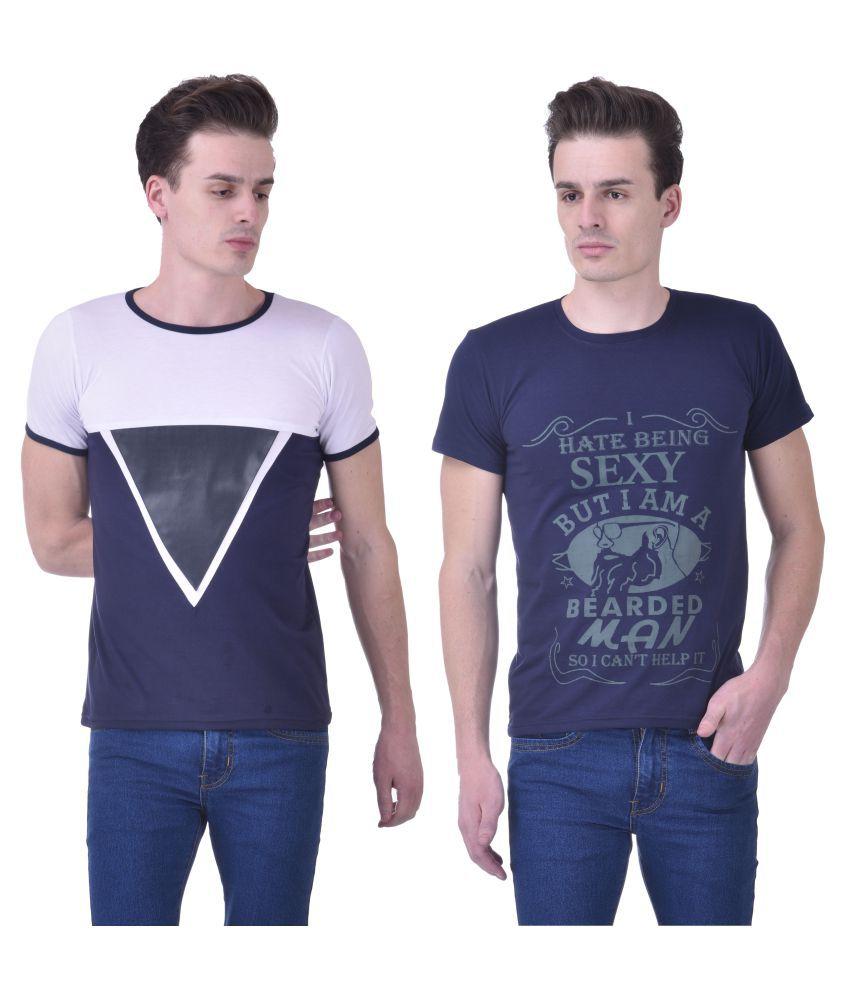Chakkor Multi Round T-Shirt Pack of 2