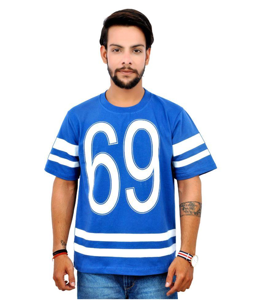 Emoticons Blue Round T-Shirt
