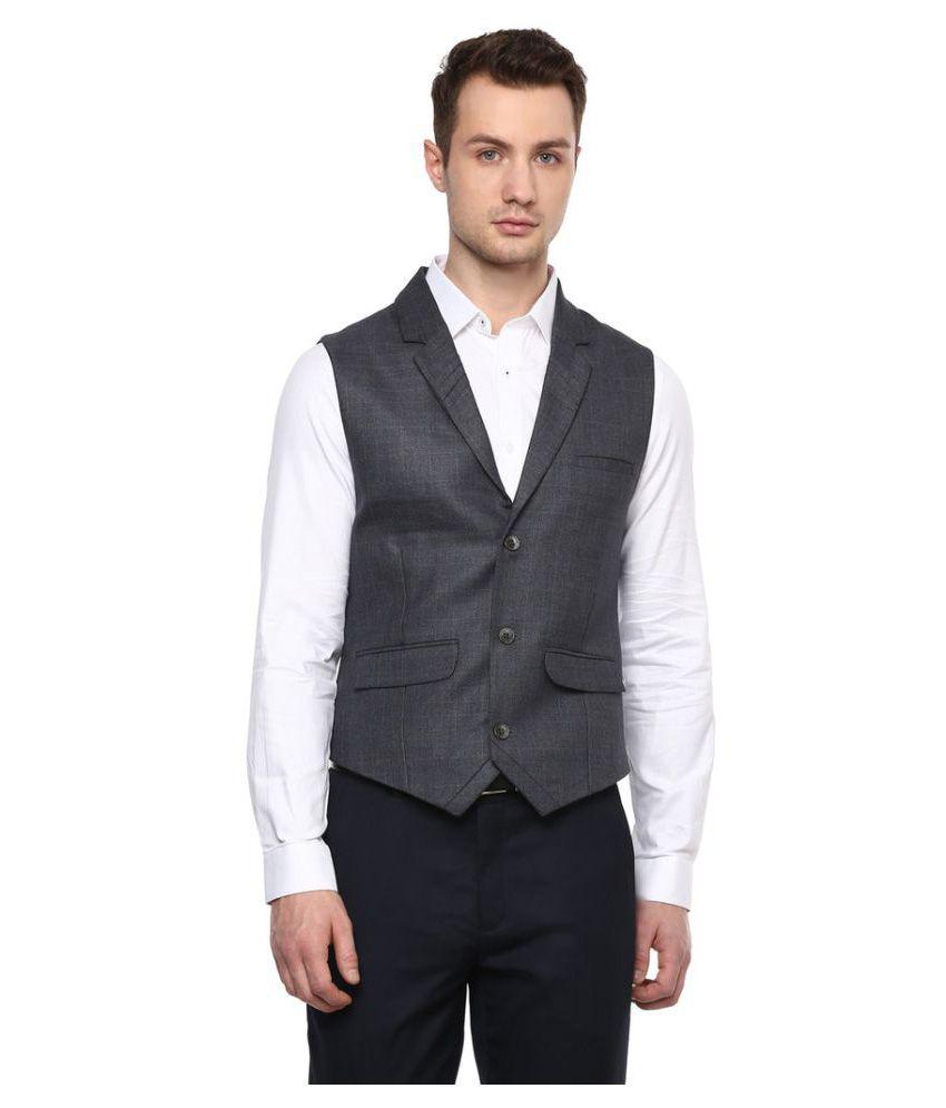London Bridge Grey Checks Formal Waistcoats