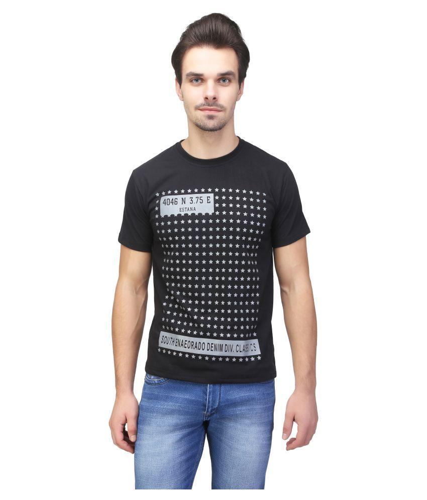 Be-Beu Black Round T-Shirt