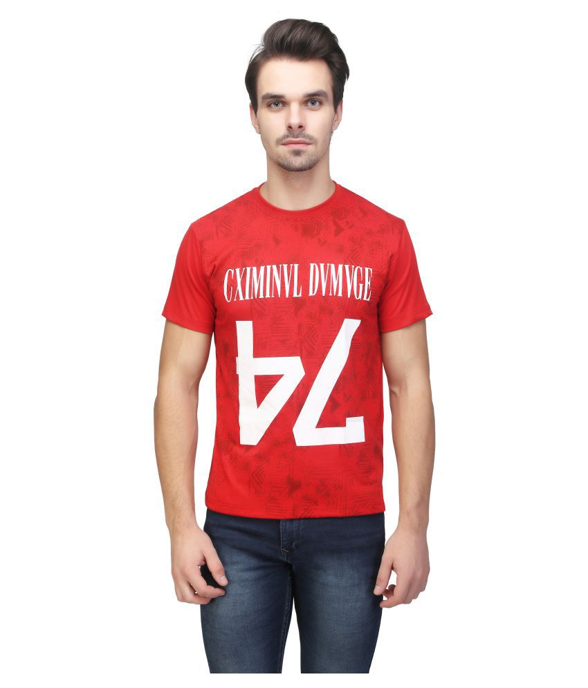 Be-Beu Red Round T-Shirt