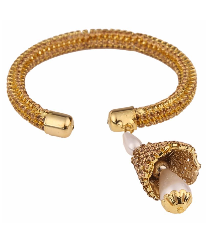 017c99dbace Parinaaz Designer Gold Plated Crystal Kada Bracelet for Girls and Women