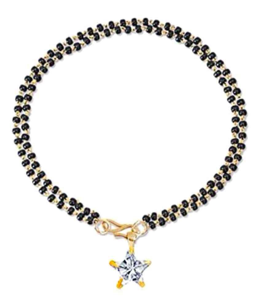 Parinaaz Trendy Gold Plated Star Hand Bracelet Bangle Style Mangalsutra for Women
