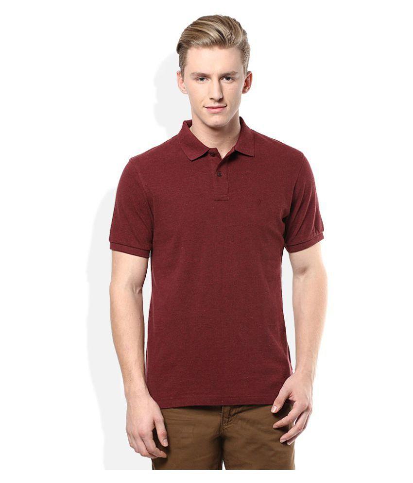 M.V. Tees Maroon V-Neck T-Shirt