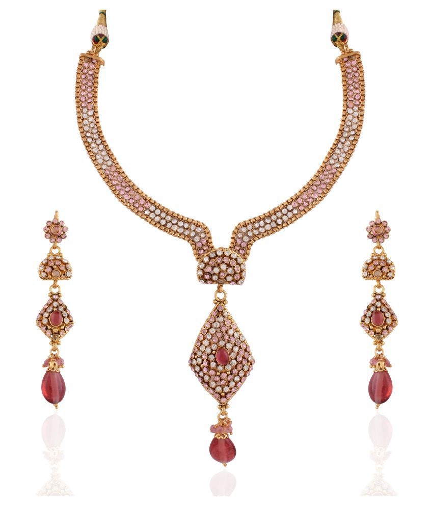 Utsavi's Stylish Earring & Necklace Set for women