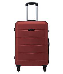 Safari Re-Gloss Anti Scratch Red Small 4 Wheel Hard Luggage Trolley