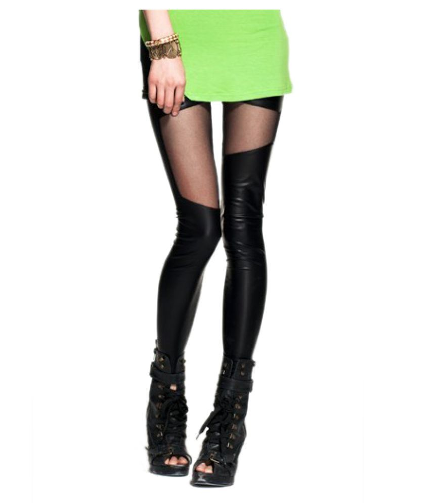 b80d66bbfeca2 Buy Kaamastra Faux Leather Jeggings Online at Best Prices in India ...