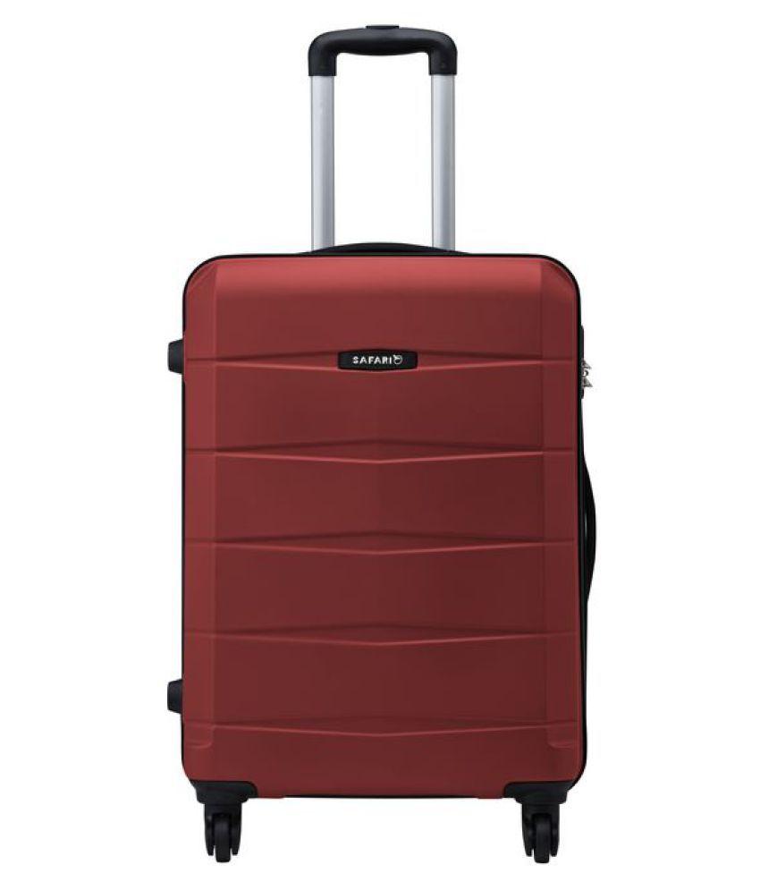 Safari Re-Gloss Anti Scratch Red S (Below 60cm) Check-in Hard Luggage Trolley