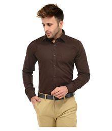 Unique for men Brown Formal Slim Fit Shirt
