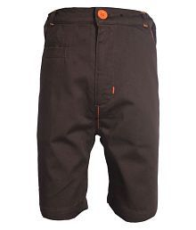 Gron Stockholm Boys Self Design Brown Shorts (GS-000083-CB-BROWN-3-4Y, 3-4 Years)