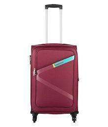Safari Greater Red Small 4 Wheel Luggage Trolley