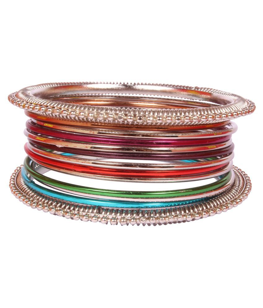 Bollywood Amazing Style Multi Silver Plated Indian Bangles Party wear Jewellery For Gorgeous