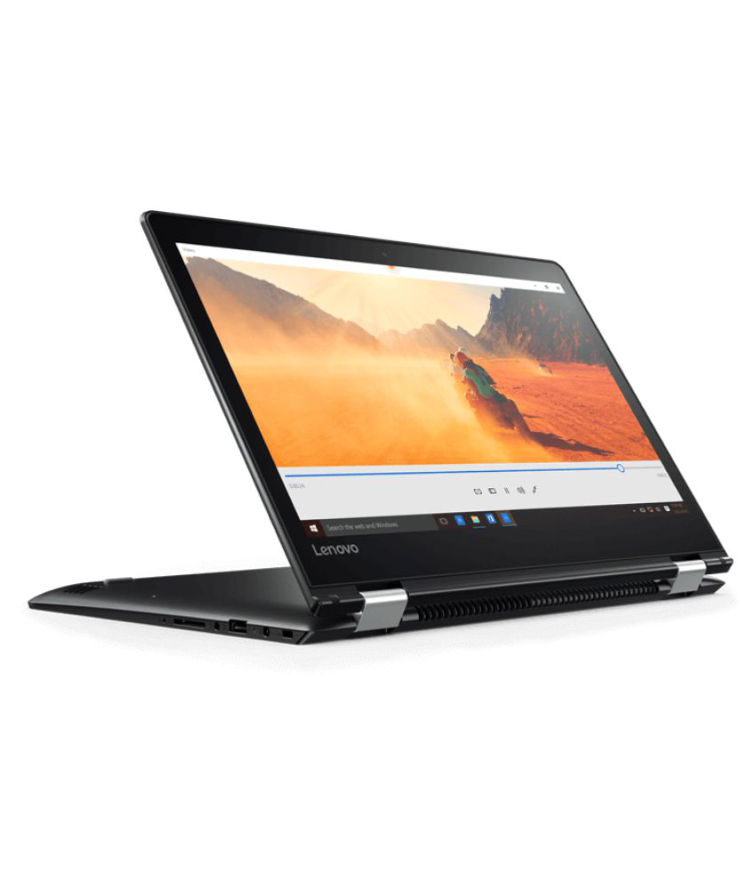 Lenovo Yoga 80VB00AGIH Notebook Core i5 (7th Generation) 4 GB 35.56cm(14) Windows 10 Home with MS Office Home & Student 2 GB Black