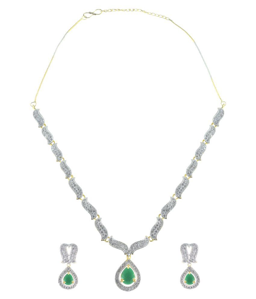 Rejewel American Diamond Studded Necklace Set