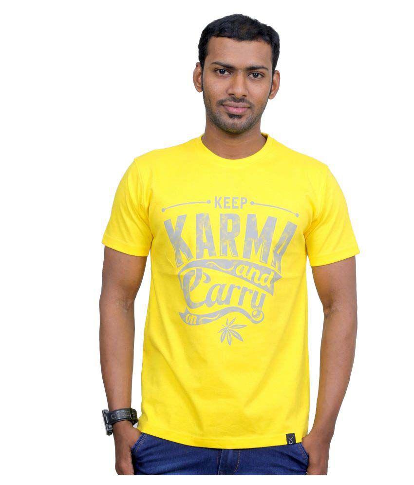 Indian Aurochs Yellow Round T-Shirt