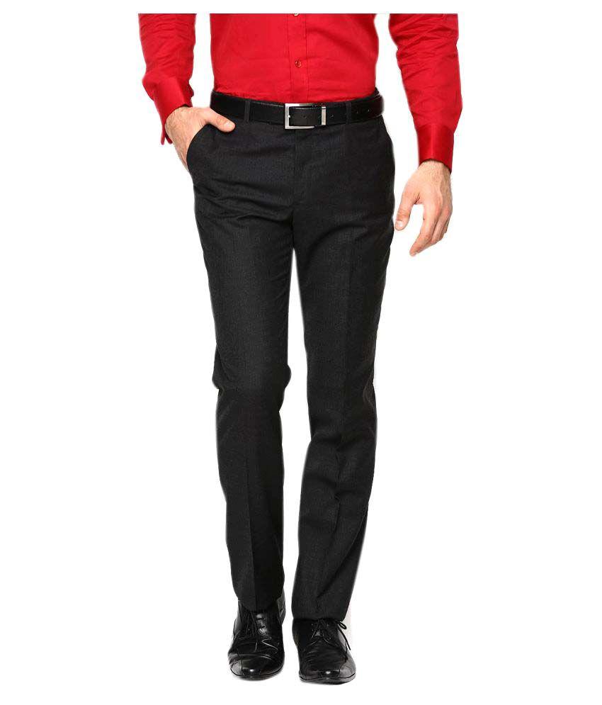 ebdd2eab282b15 AD & AV Black Regular -Fit Flat Trousers - Buy AD & AV Black Regular -Fit  Flat Trousers Online at Low Price in India - Snapdeal