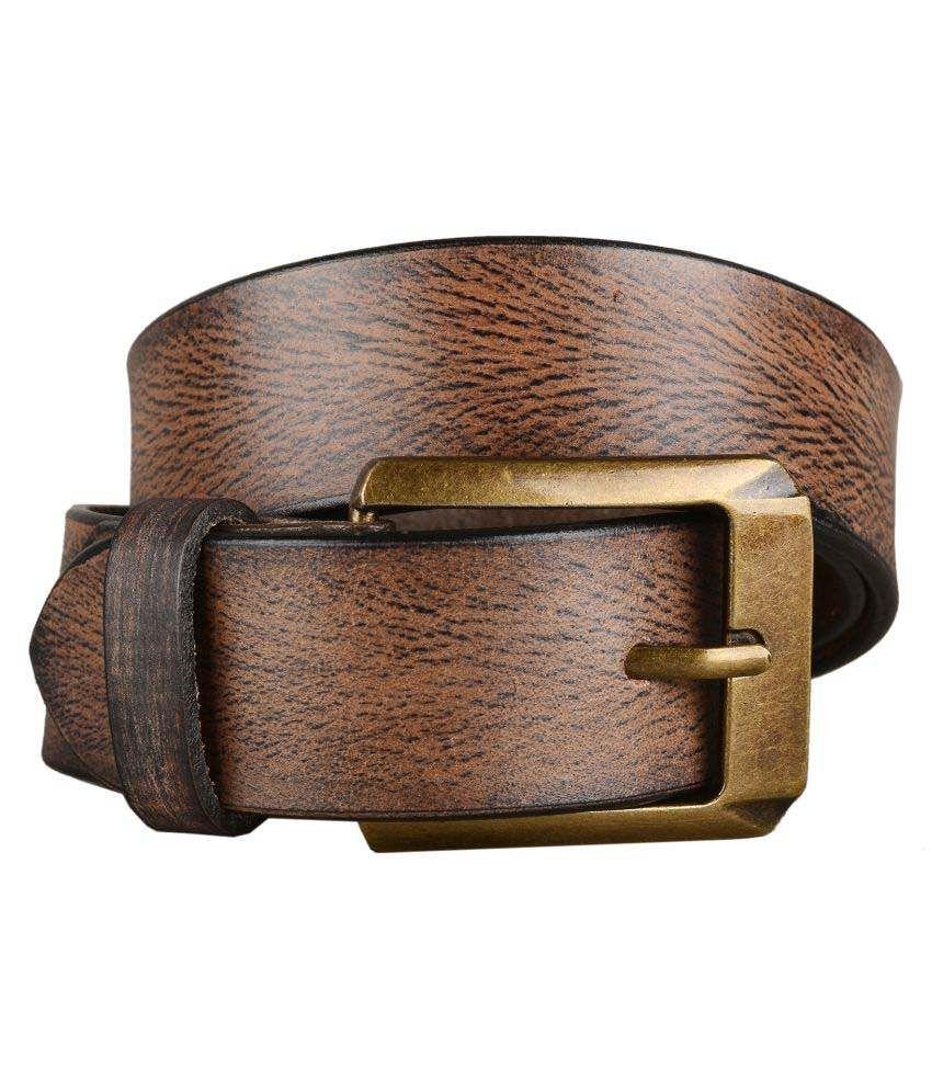 Hide&Sleek Brown Leather Casual Belts