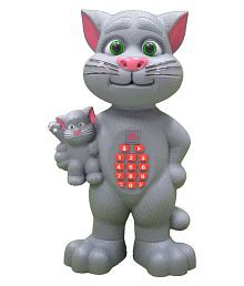 Talking Tom with Baby Cat and LED Light, Educational Toy For Kids
