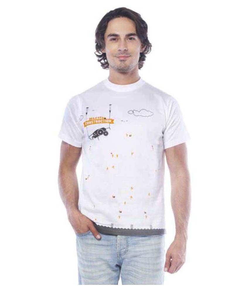 Girggit White Round T-Shirt