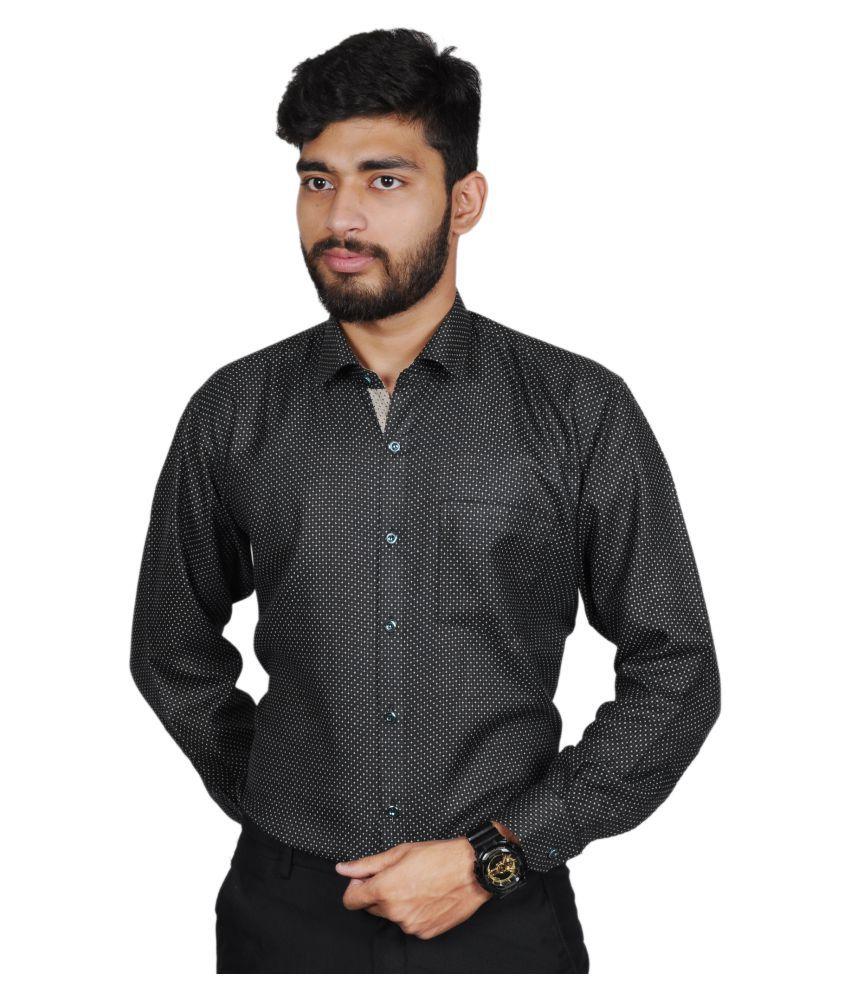 The Mods Black Casual Regular Fit Shirt