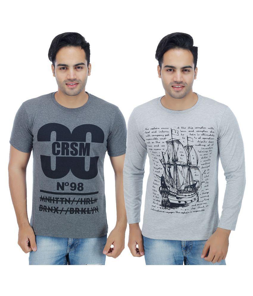 Christy World Grey Round T-Shirt Pack of 2