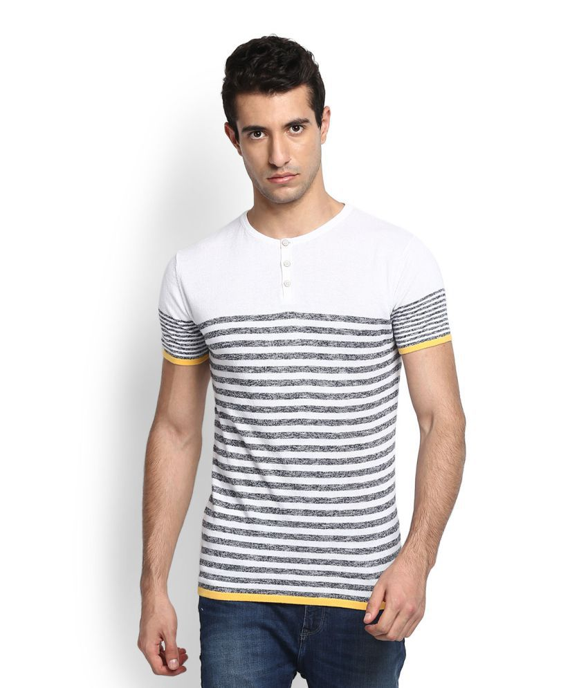 United Colors of Benetton White Henley T-Shirt