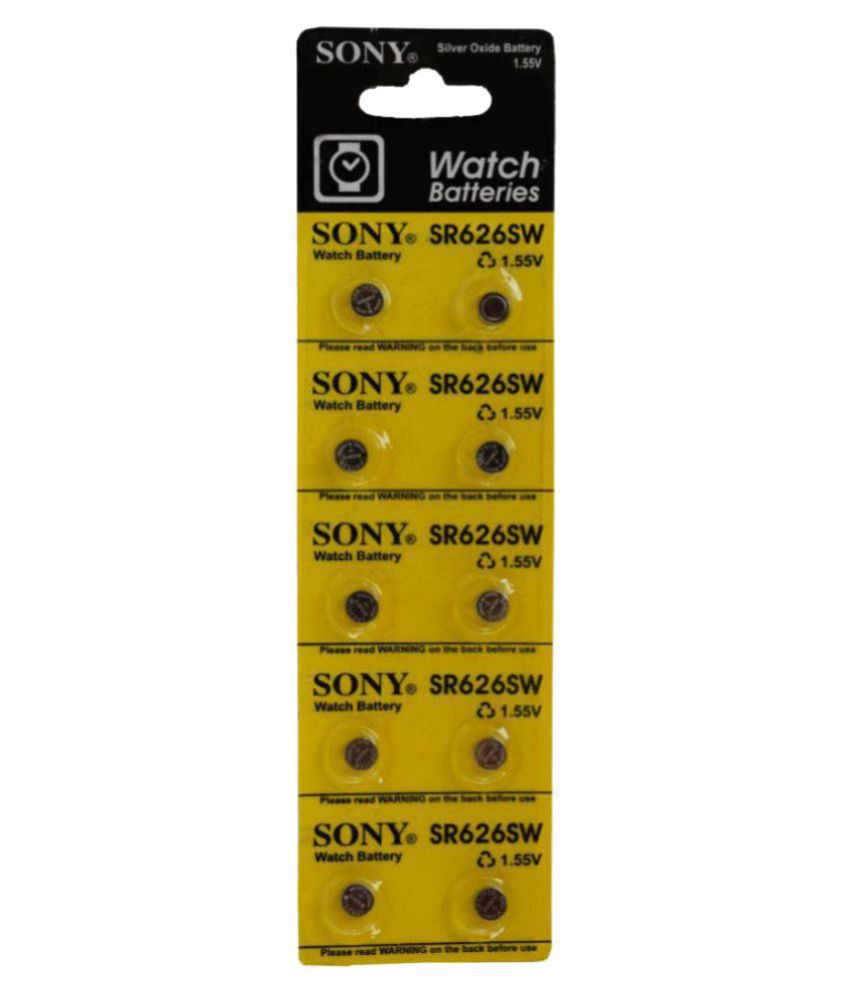 CREATOR Sony SR 626SW 1.55v Watch Battery's ( units 10 )