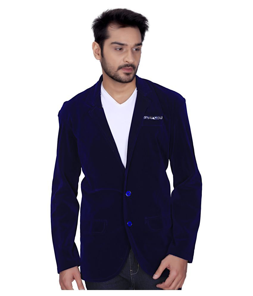 Trustedsnap Blue Solid Party Blazers