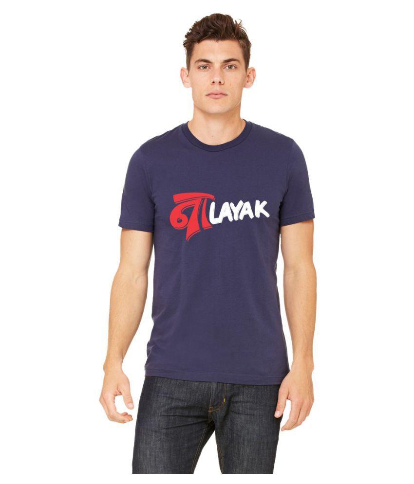 Yupok Navy Round T-Shirt