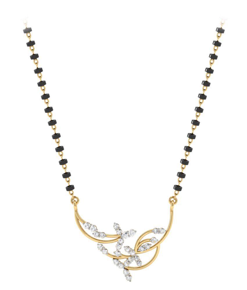 Vachya 14k Gold Diamond Mangalsutra