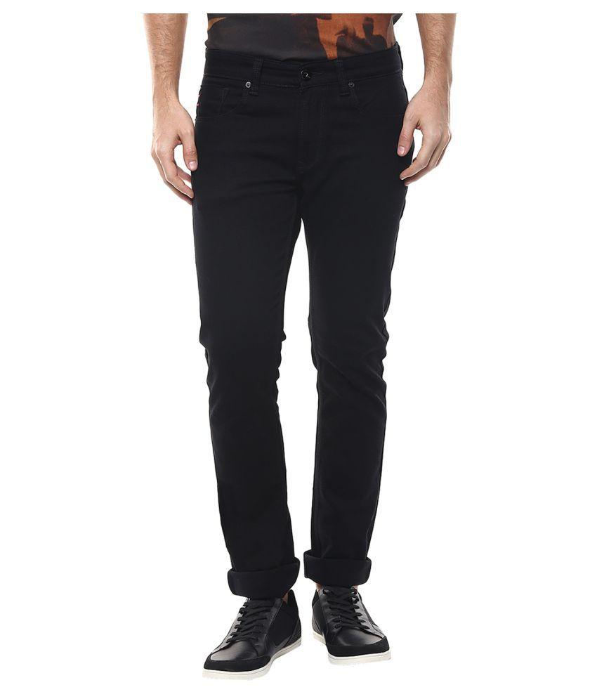 Spykar Black Straight Jeans