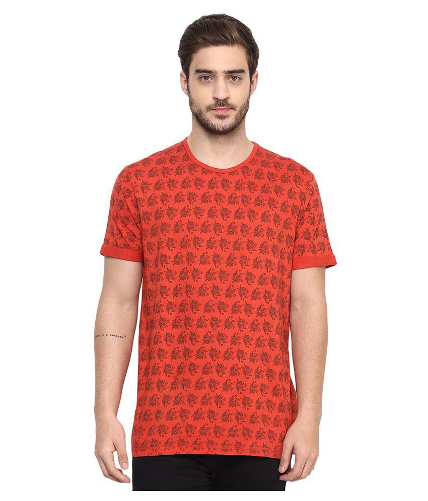 Spykar Red Round T-Shirt