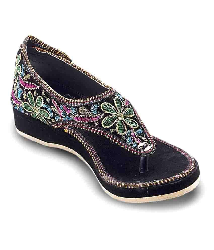 Jaipuri Shop Multi Color Flat Heels