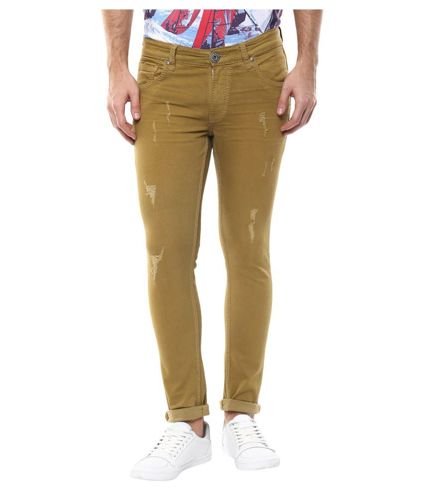 Spykar Beige Skinny Jeans