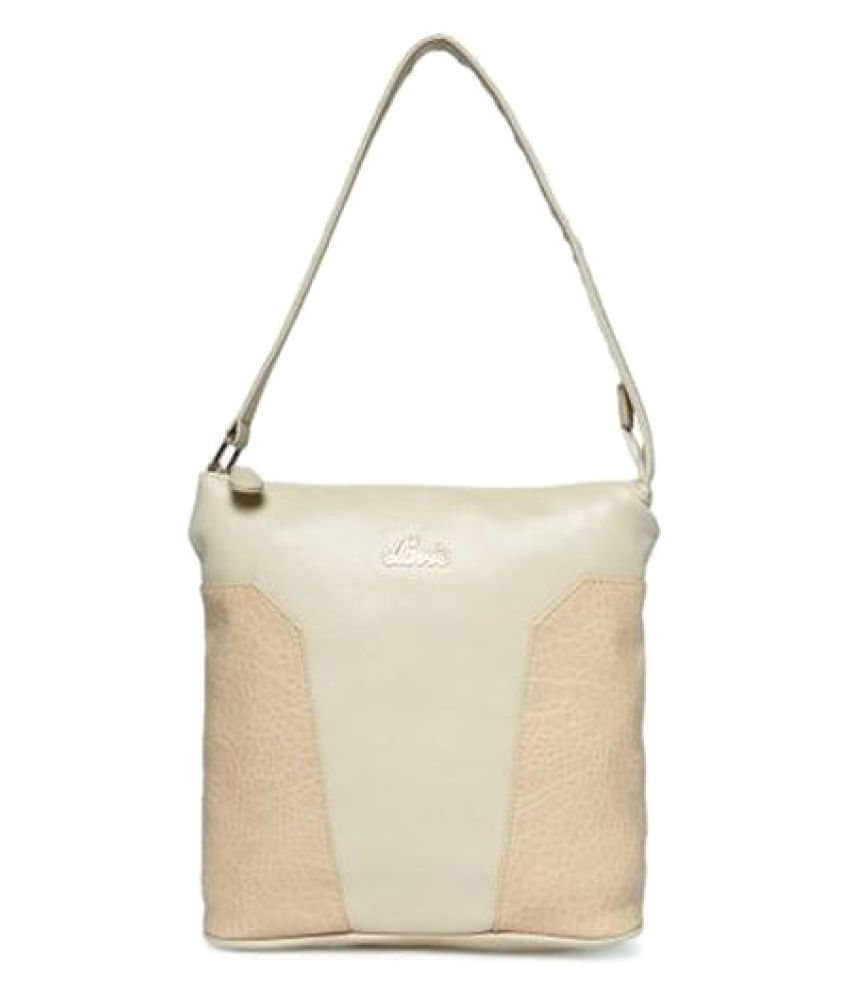 Lavie Beige P.U. Shoulder Bag