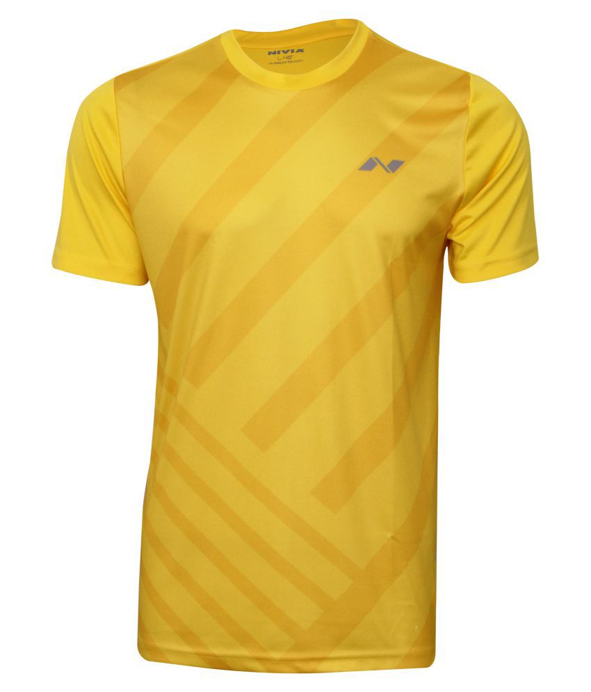 Nivia City Round Sublimation Tee Sb-1 Lemon Yellow-2352-l3