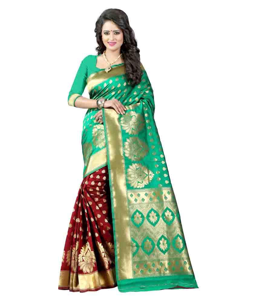 Jay Enterprise Multicoloured Art Silk Saree