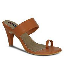 Get Glamr Tan Stiletto Heels