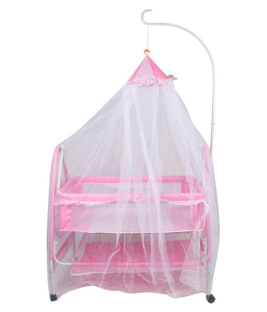 Baybee ComfyNest Swing Cradle (Pink)