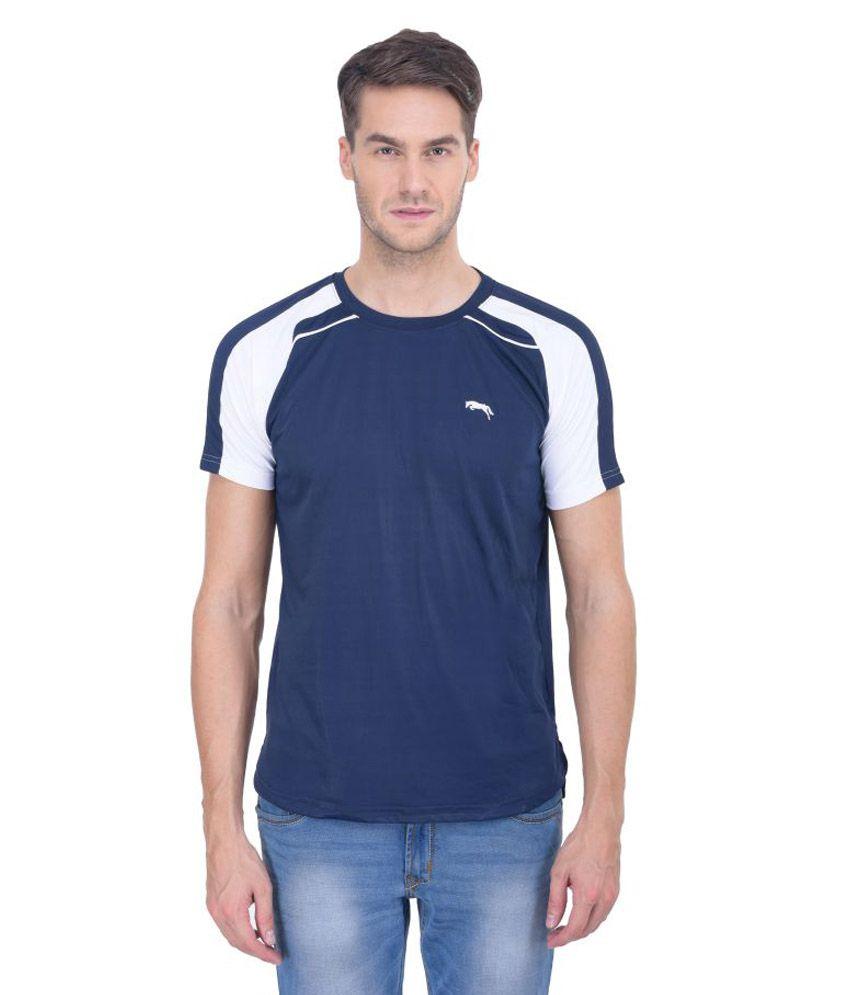 Jumpusa Navy Round T-Shirt