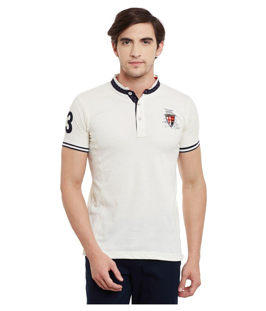 Duke Off-White High Neck T-Shirt