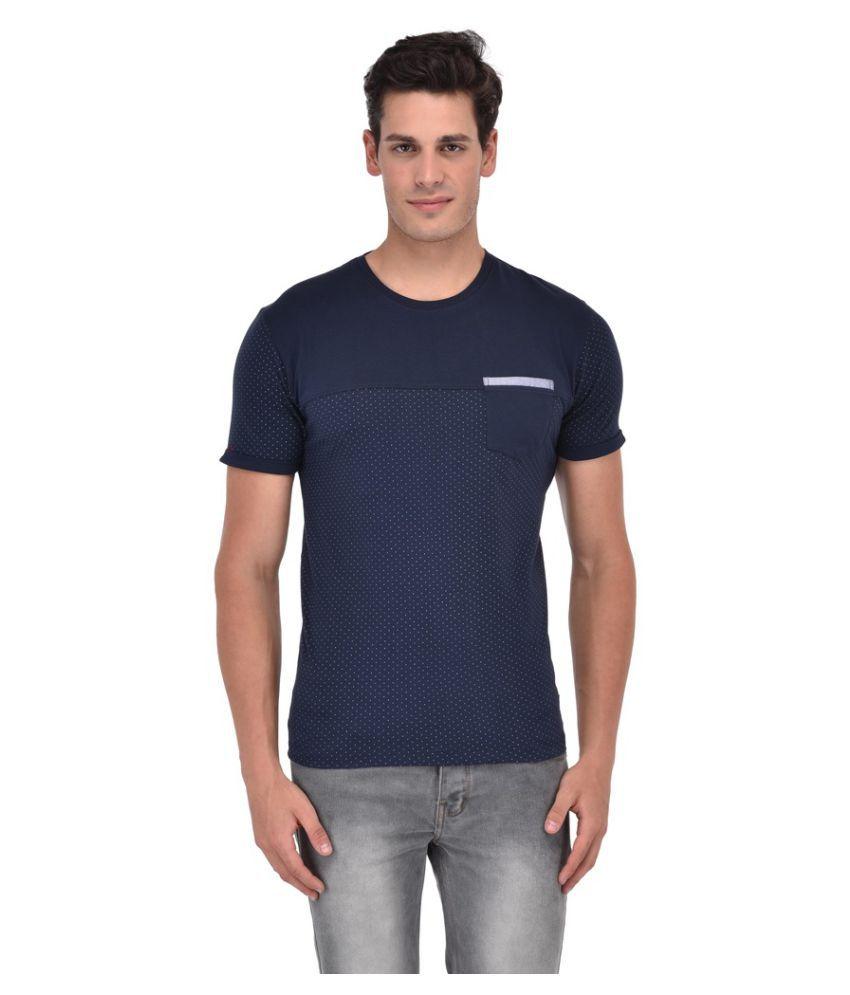 Octave Navy Round T-Shirt