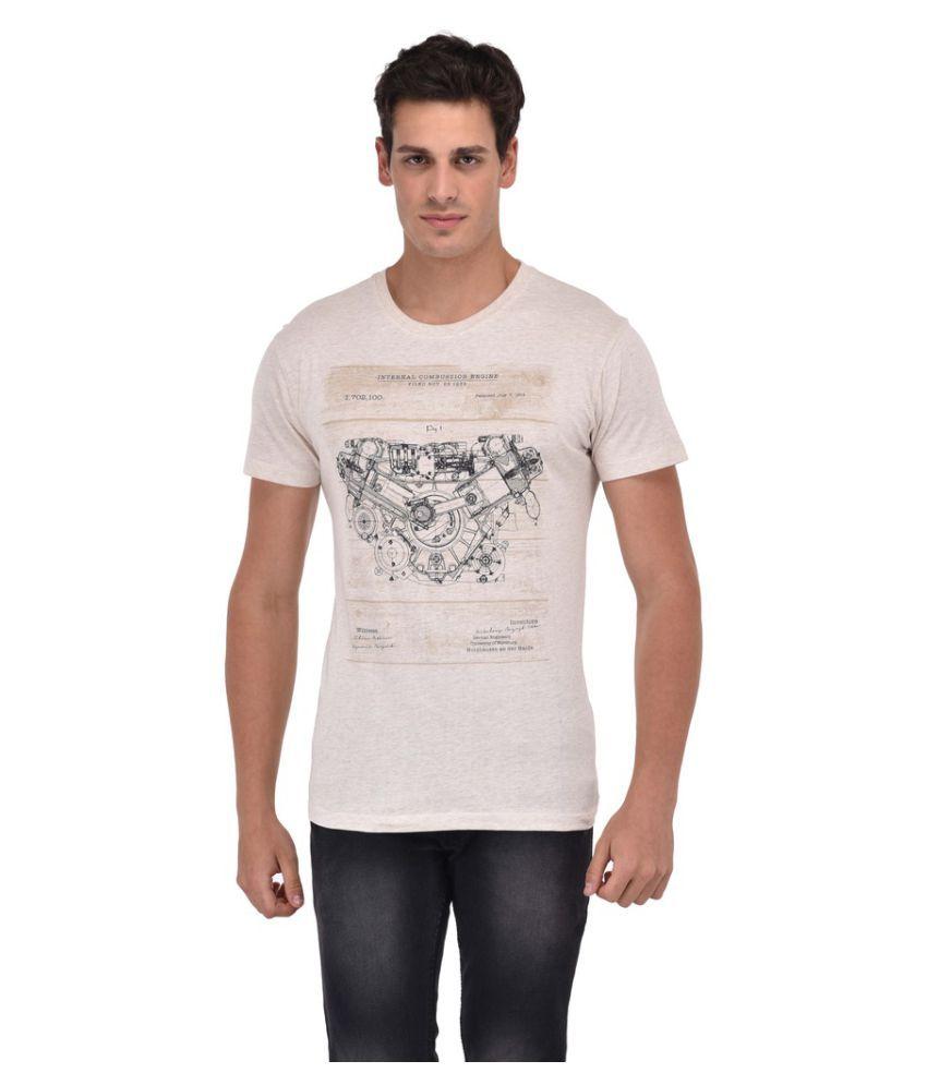 Octave Off-White Round T-Shirt