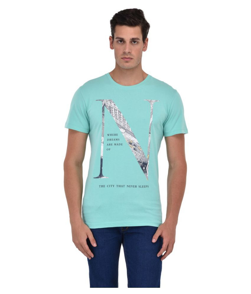 Octave Turquoise Round T-Shirt