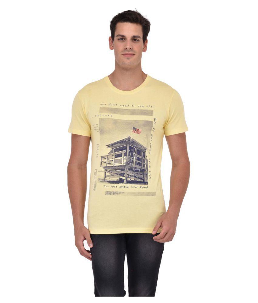 Octave Yellow Round T-Shirt