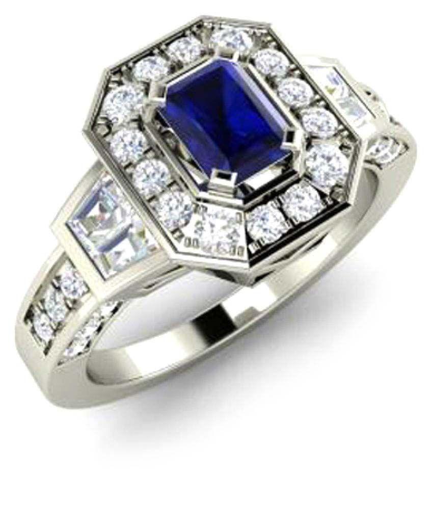 Caitali 92.5 Silver Cubic zirconia Ring