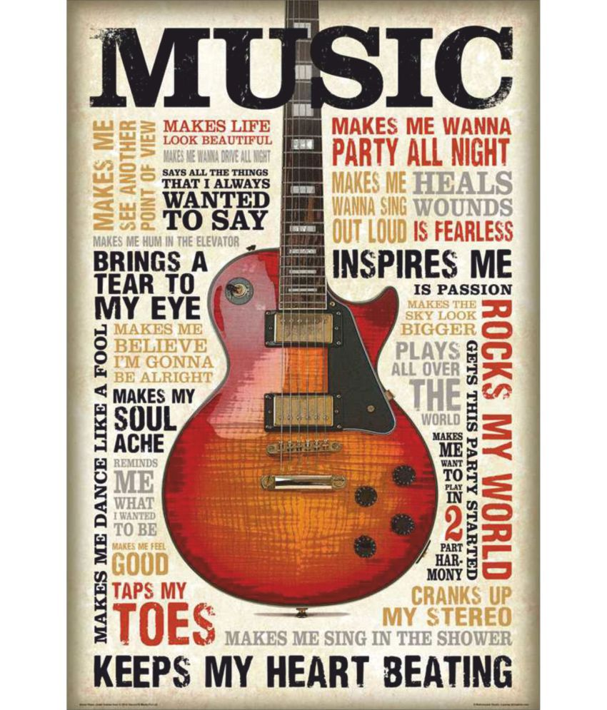 My Home Active Music Me Love Paper Wall Poster Without Frame: Buy My ...