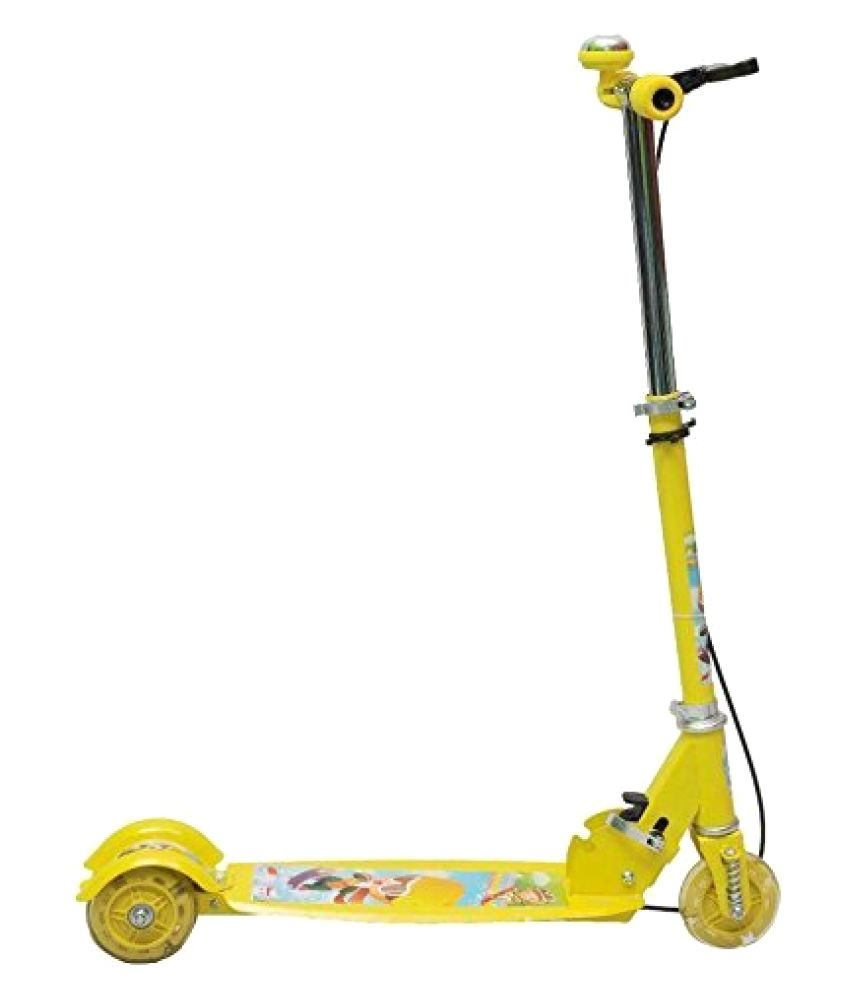 5c7efeb8fd6 Param Kids Foldable 3 Wheeler Cycle Height Adjustable with Hand break and  Bell-Yellow - Buy Param Kids Foldable 3 Wheeler Cycle Height Adjustable  with Hand ...