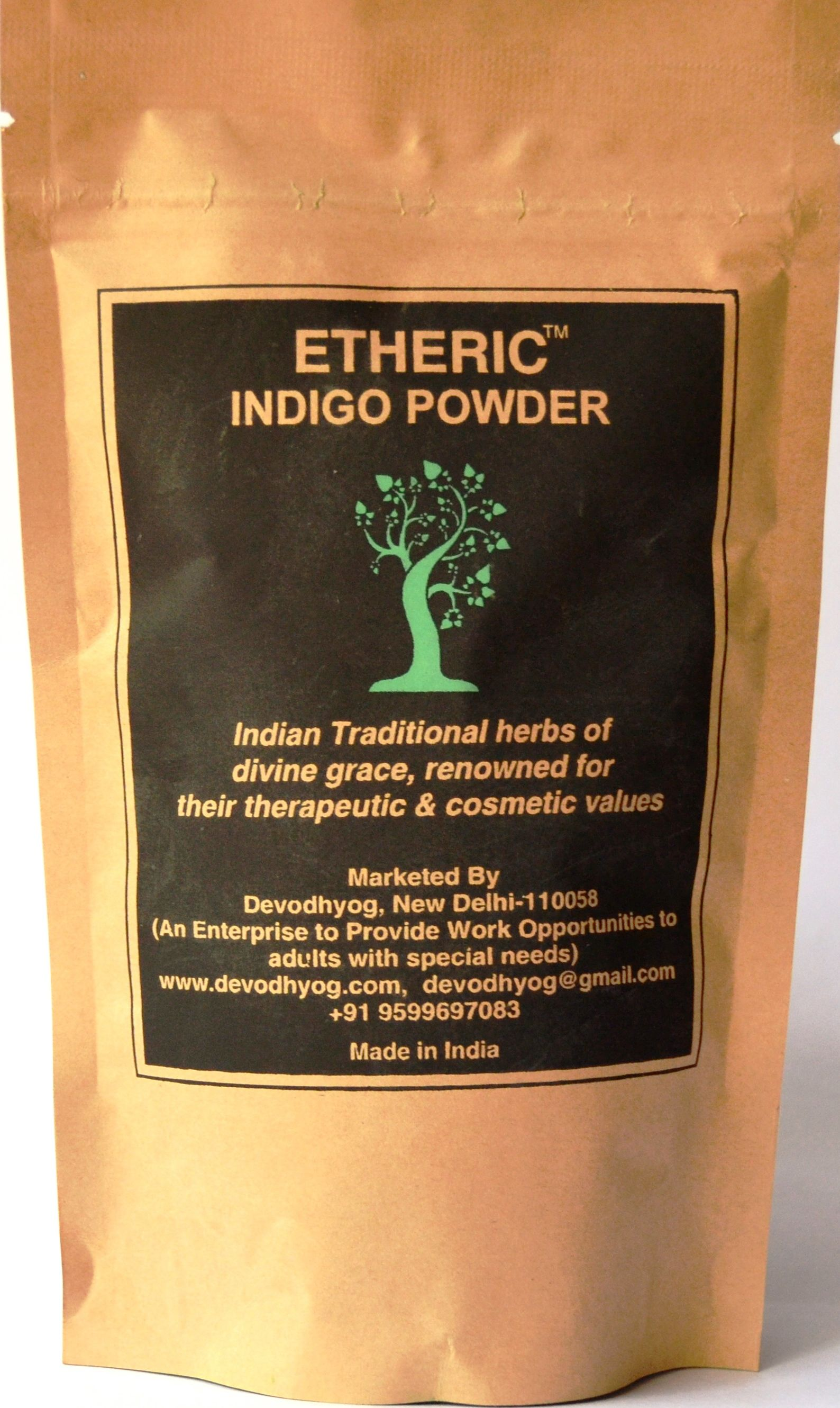 Etheric Indigo Leaves Powder Temporary Hair Color Black 100 gm