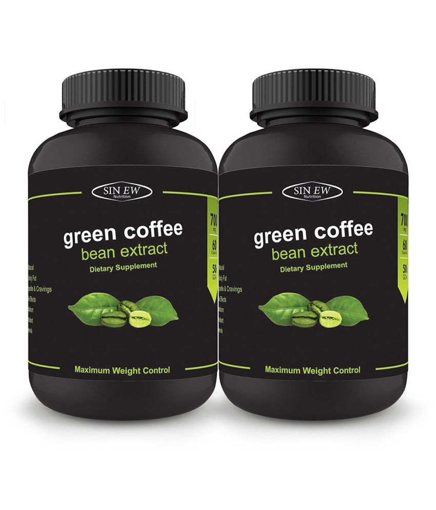 Sinew Nutrition Green Coffee Beans Extract 700mg  60 Count  Pack of 2, 100% Pure  amp; Natural Weight Management  amp; Appetite Capsule 700 mg Pack of